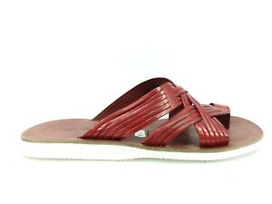 Spirited E18-rfy Man 42 Thong Sandal Raphael Model100% Leather Red Made In Italy Ample Supply And Prompt Delivery Clothes, Shoes & Accessories Sandals & Beach Shoes