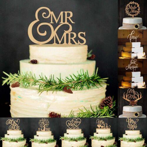 Mr/&Mrs Romantic Bride Groom Cake Topper Wedding Favors Top Letter Decor Super