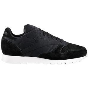 Reebok Classic Leather Baskets Hommes Noir Chaussures en Cuir Rbk Cl ... 604d0989c5a2