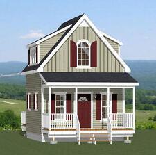 16x20 Tiny House -- 574 sq ft -- PDF Floor Plan -- Model 4A