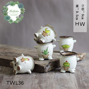 Glazing-Hand-Painted-Ceramic-Succulent-Pots-Desk-Planter-Cute-Design