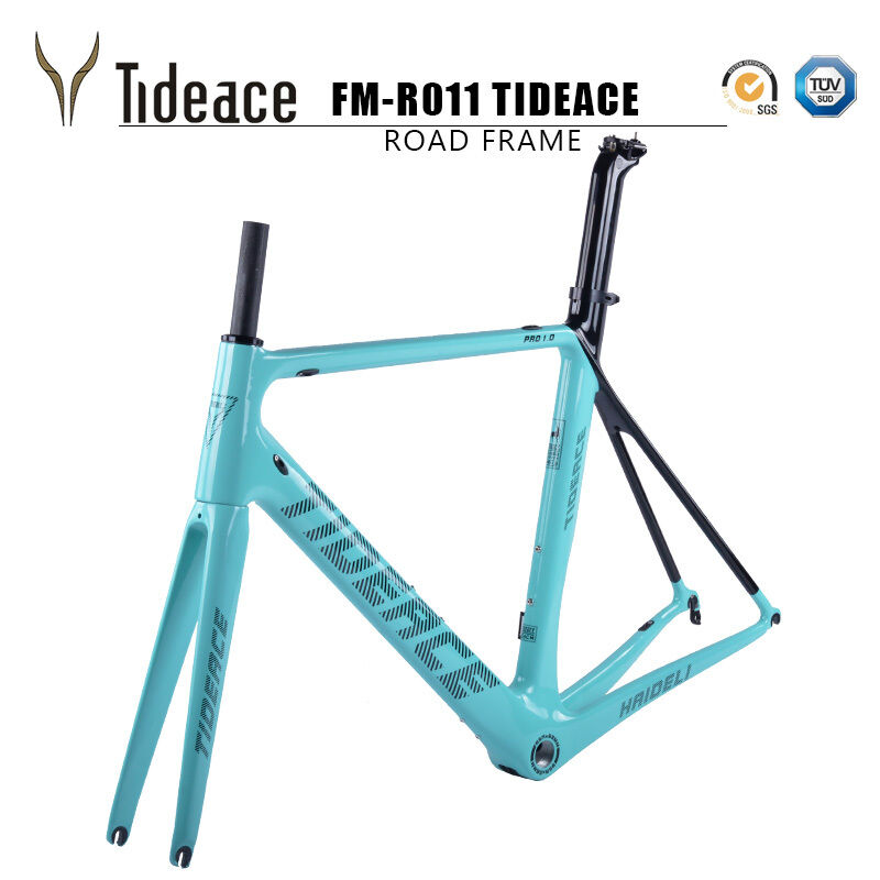 Aero T800 Carbon Fiber Road Racing Bike Frame BSA 700C Cycling Bicycle Frameset