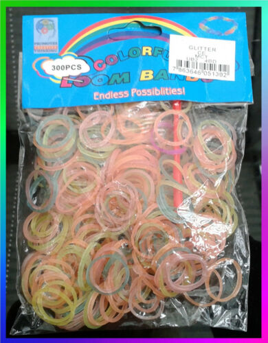 Various Plain Neon Glitter Loom Bands 300 600 1000 or Full Sets Buy 2 get 1 FREE