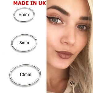 Extra Snug Nose Ring Nose Hoop 0 6mm Cartilage Septum Ring Conch