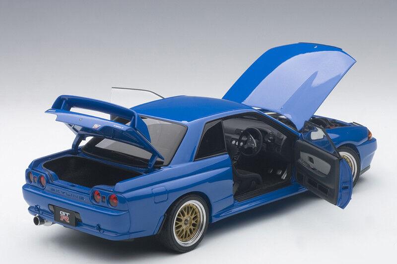 Autoart NISSAN SKYLINE GT-R R32 V-SPEC II TUNED VERSION blueE LE 1500 1 18 In Stk