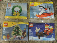 LEGO CREATOR 4 PC SET #30028, 40010, 40035, & 40058 BRAND NEW POLY BAGS
