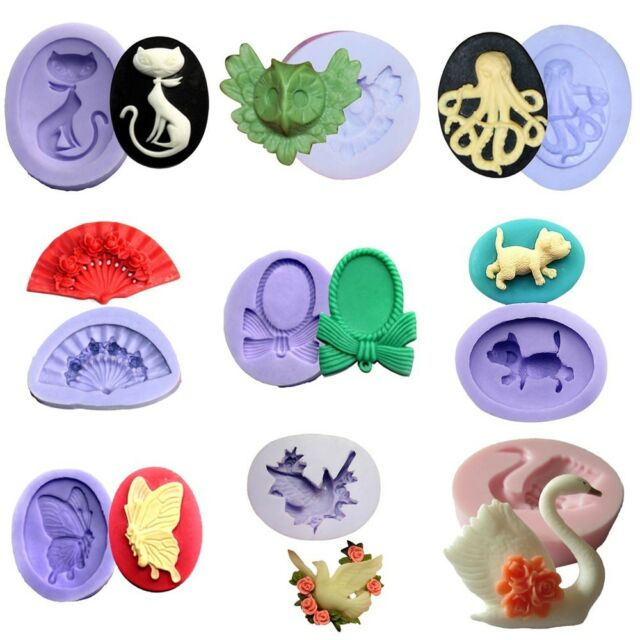 Cute Animal Silicone Mould Soap Craft Candle Cake Decorating Fondant Fimo Mold