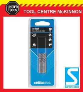 SUTTON-SILVER-BULLET-2-5mm-METRIC-JOBBER-DRILL-BIT-BULK-PACK-PACK-OF-10