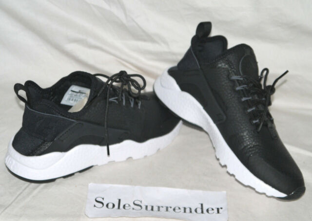 46b6fe491b31b Womens Nike Air Huarache Run Ultra Premium Sz 6.5 Black Grey White ...