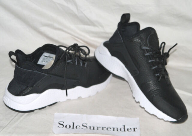 bdb88c974b42 Womens Nike Air Huarache Run Ultra Premium Sz 6.5 Black Grey White ...
