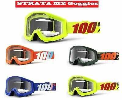 100/% Occhiali Strata Motocross Enduro MX MTB CROSS BMX QUAD Google