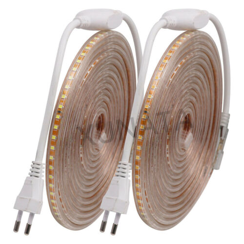 220V 2835 LED Strip Waterproof 120leds//m Diode Ribbon Tape Lamp High Bright