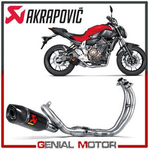 Scarico-completo-Akrapovic-Racing-Line-Carbonio-per-YAMAHA-MT-07-2014-gt-2019
