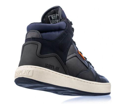 REPLAY Kinder Sneaker Schuhe Stiefel echtes Nappa Leder Kinderschuhe navy  29-37