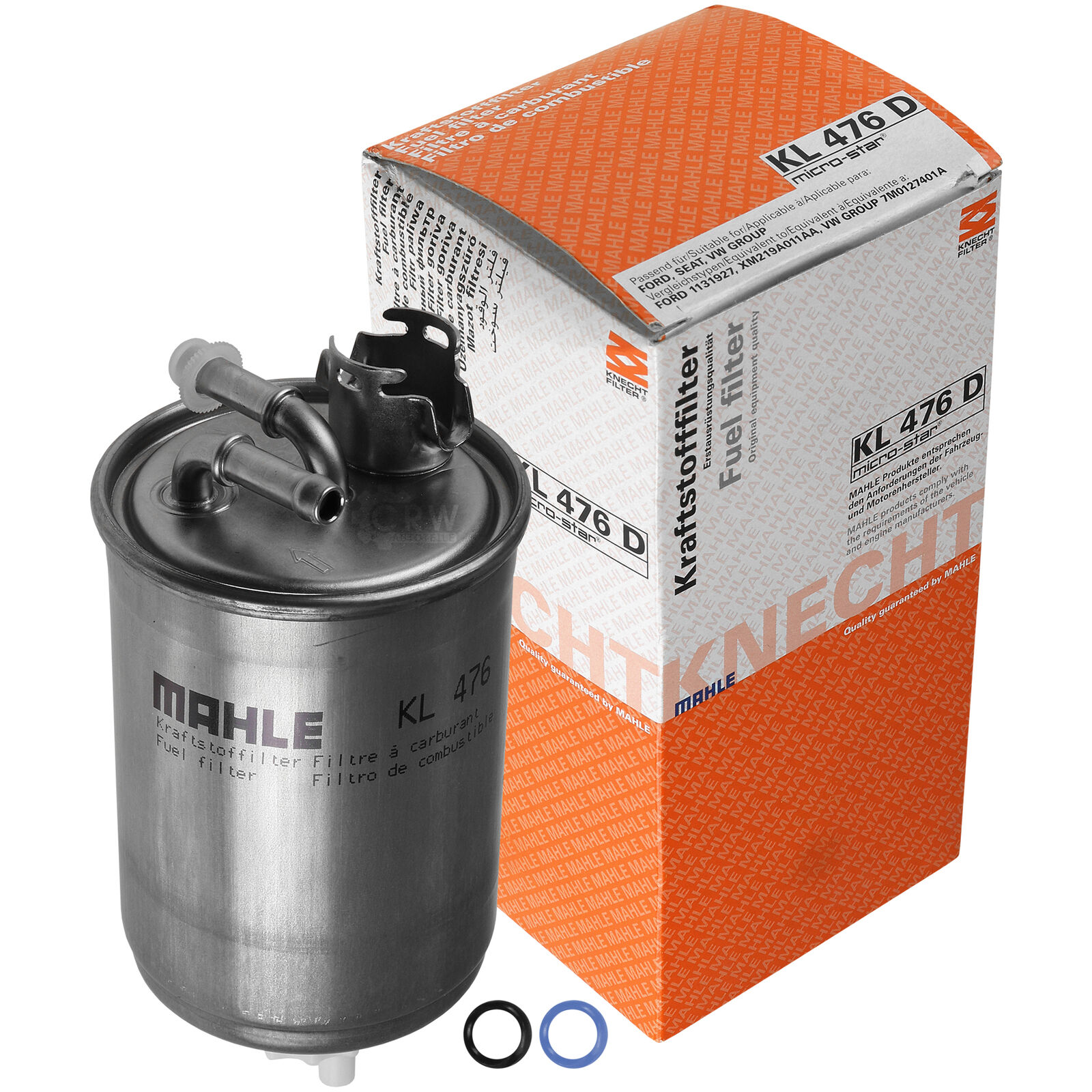 KNECHT Kraftstofffilter KL 476D Luftfilter LX 1000 Ölfilter OX 143D MAHLE