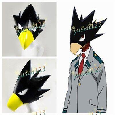 My Hero Academia Tokoyami Fumikage Bird Mask Cosplay Prop Comic Con Helmet