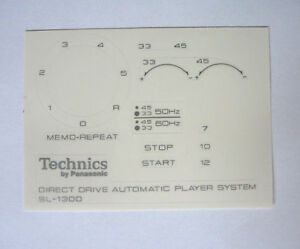 Technics-SL-1300-decal-stickers-turntable-set-Printed-SILVER-Very-RARE