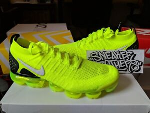 e4d2f6c8189 Nike Air Vapormax Flyknit 2.0 Volt White Black Yellow Men s Running ...