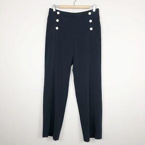 Gerard Darel Paris Women's Black Button Detail Sailor Dress Pants Size 40 (8 US)