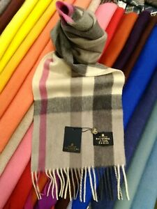 100-Pure-Cashmere-Scarf-The-House-of-Balmoral-Flisk-Pink-Bright-Colours