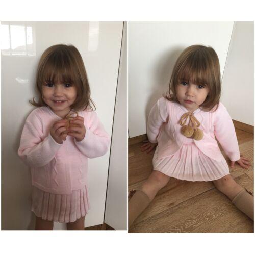Girls knitted spanish pom-pom sets