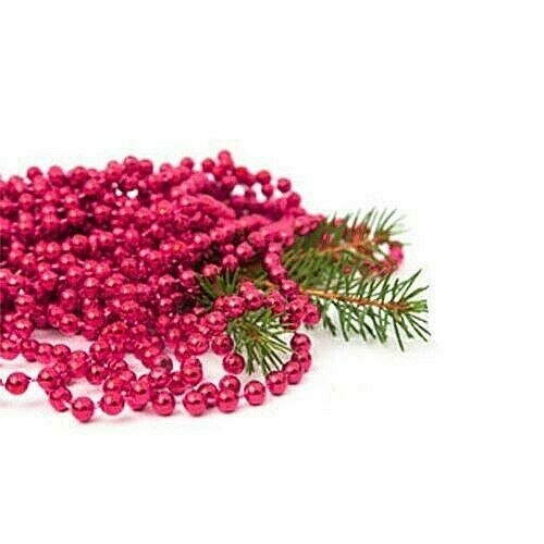 Noël Noël Métallique Perle Tins Garland 8 M x 8 mm Sélection Brillant Arbre
