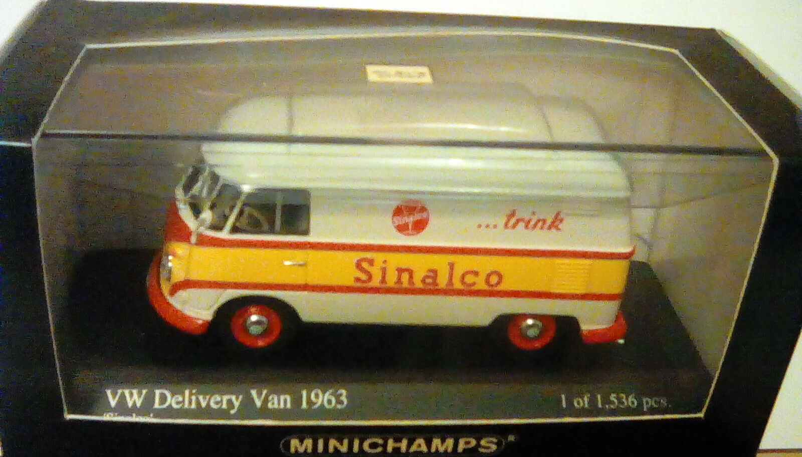 ULTRA RARE MINICHAMPS VW T1 DELIVERY VAN SINALCO 1 43 1 OF 1536 MINT IN BOX