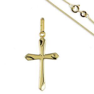 1fc76cf5df86 Das Bild wird geladen Kreuz-Anhaenger-333-Gold -Kreuzanhaenger-Kommunion-Konfirmation-Firmung-
