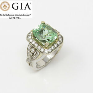NYJEWEL-GIA-Certified-18k-Gold-10ct-Tsavorite-Garnet-Diamonds-Cocktail-Ring