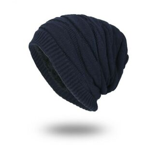 Winter Autumn Beanies Hat Unisex Plain Warm Soft Skull Knitting Cap ... 98e0cad9fe09