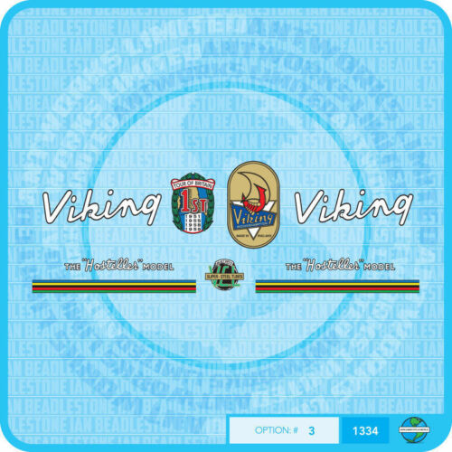Viking Stickers Hosteller Bicycle Decals Transfers Set 3