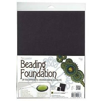Beading foundation bead embroidery beading BIG - 8.5x11 in - 4 x black sheets