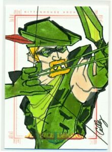 DC-COMICS-JUSTICE-LEAGUE-SKETCH-CARD-of-GREEN-ARROW-by-CULLY-LONG-1-1