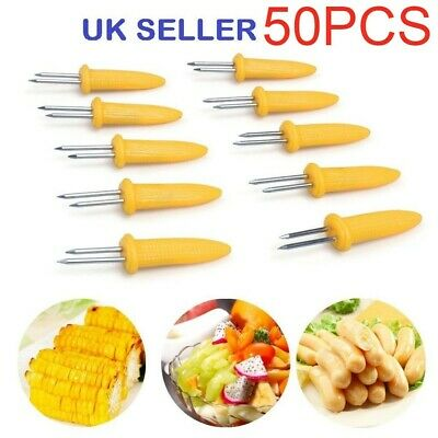 4pcs Stainless Steel Corn On The Cob Skewers BBQgs Sweetcorn Holder Fork s