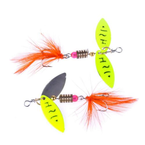 Spinner Fishing Lure Metal Spoon Lure hard bait fishing tackle Atificial 4.5g/_ER
