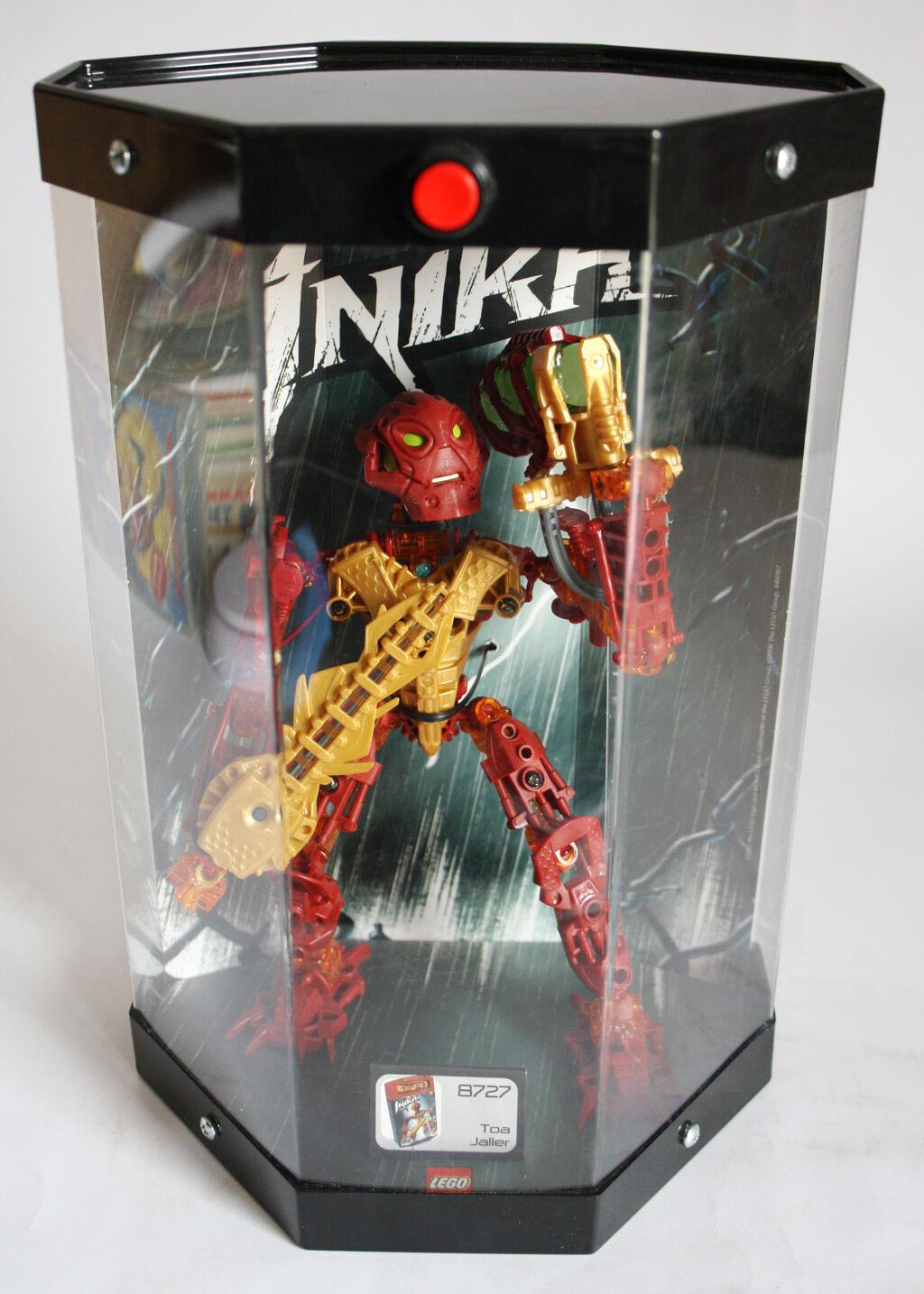 AMAZING 2006 LEGO BIONICLE INIKA 8727 TOA JALLER 12  MODEL DISPLAY TUBE