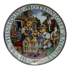 Royal-Doulton-China-Bless-This-House-Limited-Edition-Plate-Number-MA2357