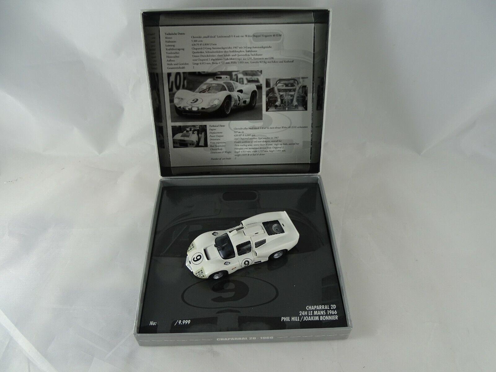 1 43 Minichamps  436661409 Chaparral 2D 24h Le Mans 1966 Hill Bonnier 9 Neu OVP