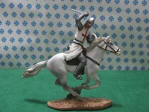 Rare and Unique - Chevalier Croisé Templier Ii Dans La Bataille Cm.   5x15x15