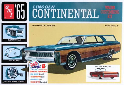 1965 Lincoln Continental Wagon Convertible 1:25 AMT Model Kit Bausatz AMT1081