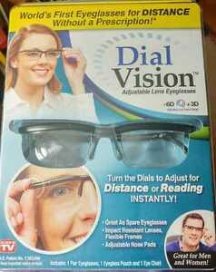 7c6e3ebcac as Seen on TV Dial Vision Adjustable Lens Eyeglasses -6d 3d Eye Chart B71