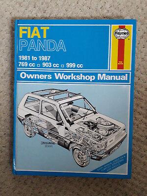 Haynes Workshop Manual Fiat Panda 1981-1995 FWD Selecta Service /& Repair