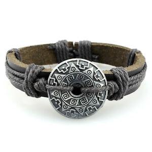 LEDERARMBAND VIKING Wikinger Breites Herren Damen Echt Leder Armband Mittelalter