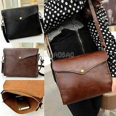 Vintage Women PU Leather Messenger Shoulder Bags Satchel Handbag Tote Purse New