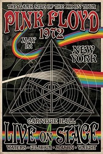 24x36 NEW YORK MUSIC 241342 DARK SIDE OF THE MOON TOUR POSTER PINK FLOYD