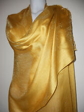 WEDDING YELLOW GOLD  SCARF  SCARVES SHAWL STOLE GIFT SHAWL NIGHT PARTY PASHMINA