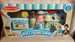 Details About Melissa And Doug Scoop Top Wooden Ice Cream 21 Pc Toy Play Set Brand New