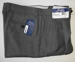 NWT POLO RALPH LAUREN MEN/'S COMFORT FLEX PLEATED DRESS PANT-NAVY BLUE CHECKS