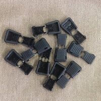 (10) Black Plastic Zipper Pull Cord Ends Paracord Rope Tactical Gear 1