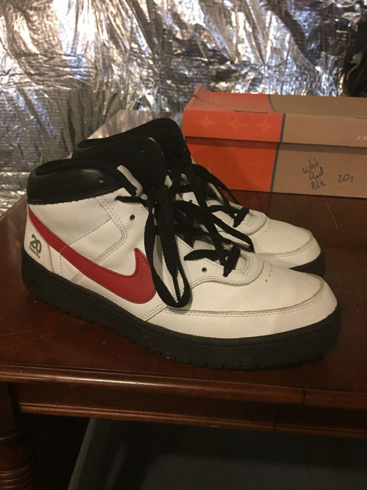 Nike Fleet Center 20s White Black Red Size 9.5